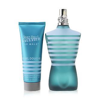 Jean Paul Gaultier Le Male Coffret: Eau De Toilette Spray 125ml/4.2oz + All-Over Shower Gel 75ml/2.5oz (Round Tin Box) 2pcs
