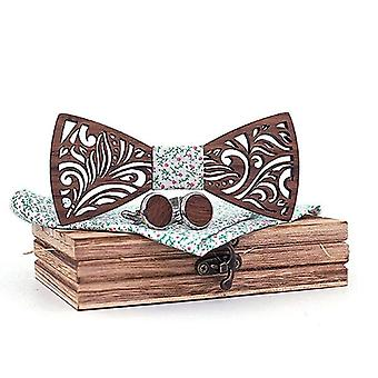 Conjunto de gravata borboleta de madeira e lenço gravata borboleta gravata gravata cravat homme nariz