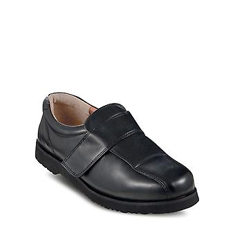 Chums Mens Leather Wide Opening Touch Fasten Shoe
