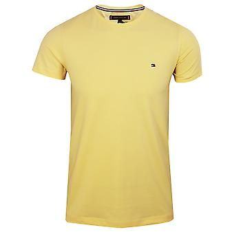 Tommy hilfiger men's delicate yellow stretch t-shirt