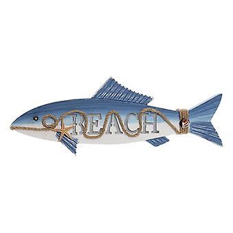 Wanddecoratie DKD Home Decor Fish MDF Hout (49 x 5 x 17 cm)