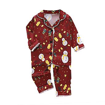 Baby Christmas Cartoon Piżamy Stroje Bielizna nocna Bielizna nocna