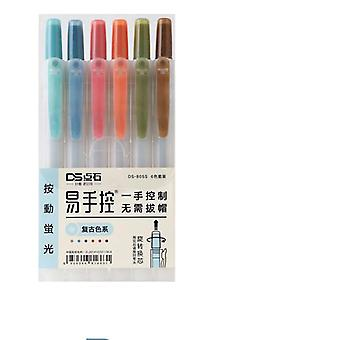 Retractable And Refillable Highlighter Marker Pen
