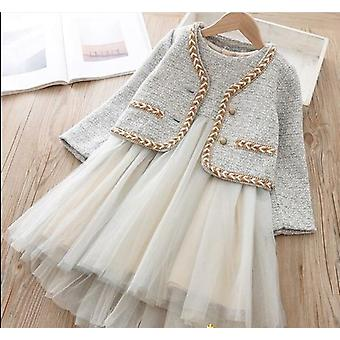 Girls Teens Party Dress Chic Dress Suits 2pic Elegant Autumn Winter