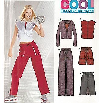 New Look Sewing Pattern 6226 Junior Misses Shorts Skirts Pants Jackets Size 3/4 -13/14