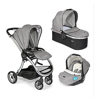 Tutti Bambini Arlo Chrome 3 in 1 Travel System - Charcoal