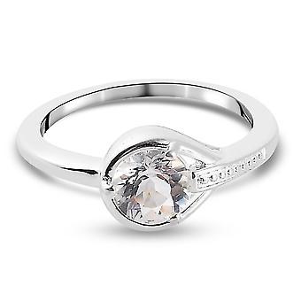 TJC Petalite Verlobung Solitär Ring für Frauen in Sterling Silber 1ct