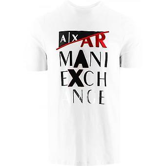 Armani Exchange Valkoinen Regular Fit T-paita