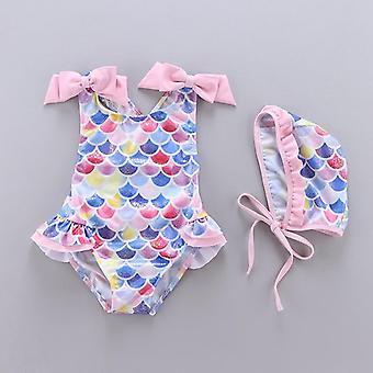 ילדה בגדי ים לילדים תינוק ללא שרוולים חתיכה אחת שמלת נסיכה בגד ים