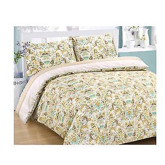 Amsons Lagoon Cotton Sateen Quilt Cover Set Multicolor Queen