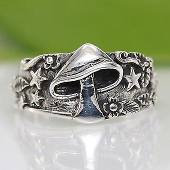 Vintage Star Flower Pattern Ring, Hommes, Multi Size Femme Statement Retro, Punk,