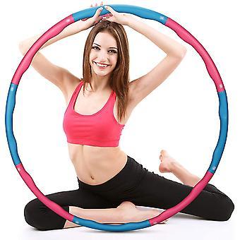 FengChun Hula Hoop zur Gewichtsreduktion, Hula-Hoop-Reifen fr Fitness, 8 Abschnitte mit Schaumstoff