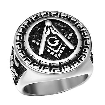 Round rose croix freemasonry ring [multiple colors]