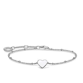 Thomas Sabo - Heart-shaped bracelet with Sterling 925 silver ball and Silver, color: silver, cod. A1991-001-21-L19v