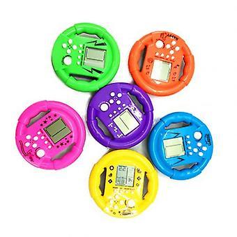 Steering Wheel Shape Classic Mini Handheld Game Machine.