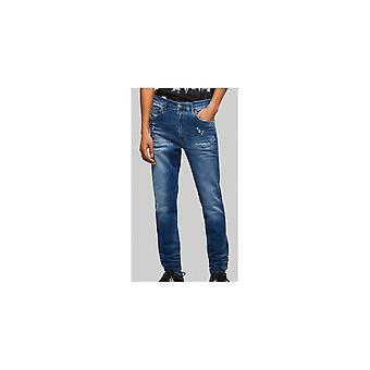 Diesel D-istort Skinny Fit Blue Jeans