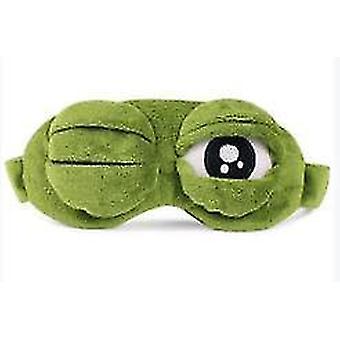Cute Frog Sleep Eye Mask Green Cartoon Sad Frog Eye Mask