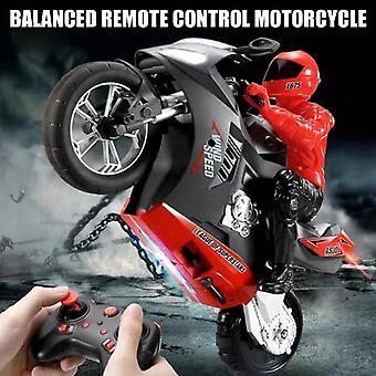 Mini moto de juegos de juegos de control remoto eléctrico RC 2.4Ghz moto de carreras para niños (rojo)