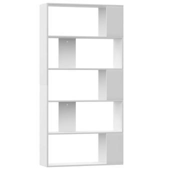 vidaXL Bücherregal/Raumteiler Weiß 80×24×159 cm Spanplatte
