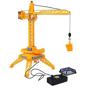 Barn Tower Crane Elektrisk Fjärrkontroll Trådlös Teknik BilLeksak Modell