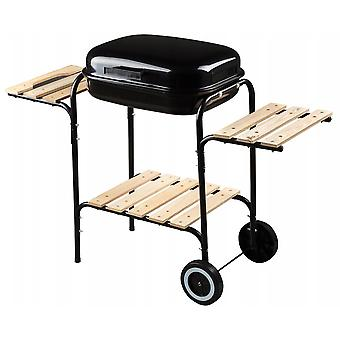 Charcoal BBQ grill with work surface – 96 x 46 x 76 cm