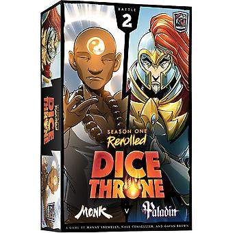 Dice Throne Season One Rerolled 2: Monk vs. Paladin Dice Game