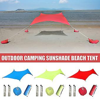 Beach Tent Beach Sunshade Lightweight Sun Shade Tent With Sandbag Anchors Comfortable For Parks