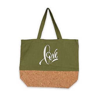 متعددة الاستخدامات حقيبة الحب الأخضر النسيج (15 × 36 × 45 سم)