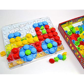 Matrax Magic Buttons, 80 Buttons, 16 Different Pattern Cards, Educational, For Children 3 Years And Up