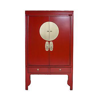 Fino Asianliving gabinete de boda chino rojo rubí - Orientique Collection W100xD55xH175cm