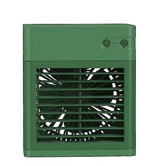 High quality desktop mini air conditioner cooler air cooler usb humidifier green #4600