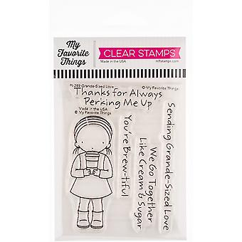 """My Favorite Things Pure Innocence Stamps 3""""X4"""" - Grande-Size Love"""