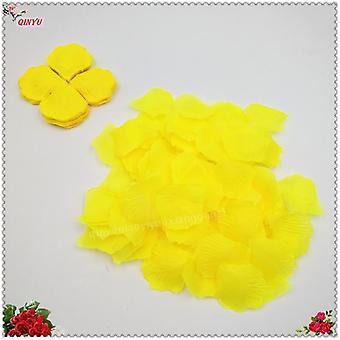 1000Pcs colorful artificial rose petals wedding petalas colorful silk flower accessories wedding rose 7z