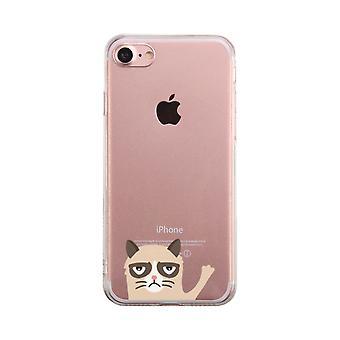 気難しい猫透明な携帯電話ケースかわいい透明 Phonecase