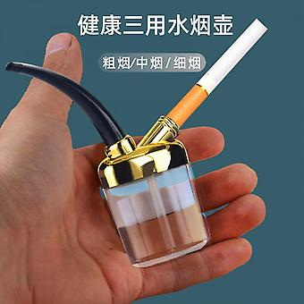 3pcs Creative Mini Filtered Water Pipe Healthy Water Pipe Men's Cigarette Holder Universal Filter Smoking Cessation Set