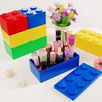 Quadratische Kunststoff-Aufbewahrungsbox Bausteine Aufbewahrungsbox Ziegel kann gestapelt werden Desktop Spielzeug Schreibwaren Lagerung Organizer Container