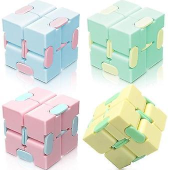 4 PCsストレスリリーフインフィニティキューブそわそわ魔法のパズルフリップおもちゃ