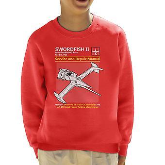 Cowboy Bebop Swordfish Service And Repair Manual Kid's Sweatshirt