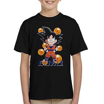 Goku mønster Dragon Ball Kids t-skjorte