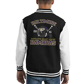 Fantastic Beasts League Baltimore Ramoras Helmet Kid's Varsity Jacket