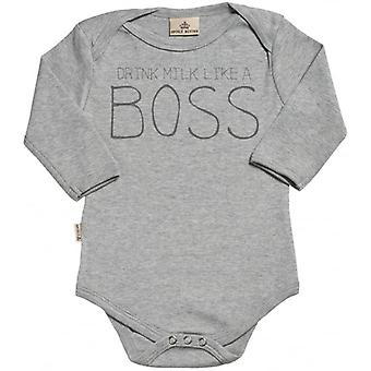 Spoilt Rotten I'm The Boss Long Sleeve Organic Baby Grow
