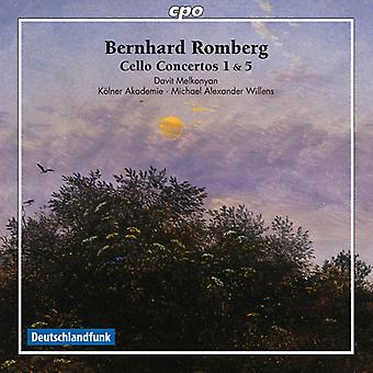 Romberg / Melkonyan / Akademie / Willens - Bernhard Romberg: Cello Concertos Nos. 1 & 5 [CD] USA import