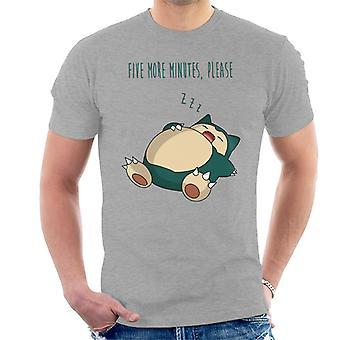 神奇宝贝斯诺拉克斯五分钟请男士;s T恤