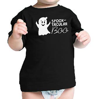 شبح-تاكولار بو الزي هالوين بابيس طفل لطيف المحملة القميص الأسود