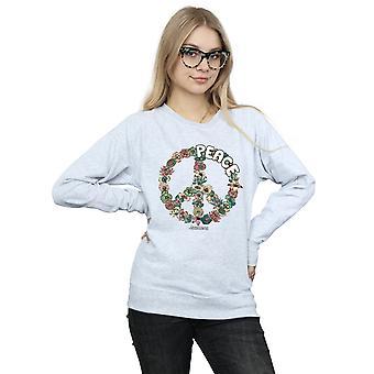 Woodstock Women's Floral Peace Sweatshirt