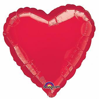 Amscan 18 Inch vlakte hartvormige folie ballon