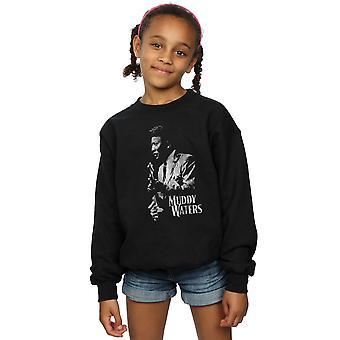 Muddy Waters Girls Mono Distressed Sweatshirt