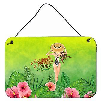 Summer Time Lady en maillot de bain mur ou une porte suspendue imprime