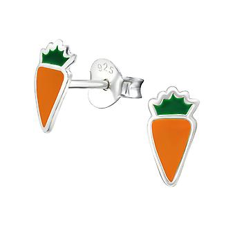 Carrot - 925 Sterling Silver Colourful Ear Studs - W26294x