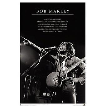 Bob Marley-One Love-Lyrics-Plakat-Druck (24 x 36)
